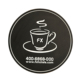 OEM Wholesale Round Mug Coffee Tea Cup PVC Rubber Coaster