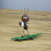 Мультфильм Железный муравей Миниатюрные модели Милый Железный муравей железные ремесла забавная игрушка фигурки Настольный украшения для...(Китай)