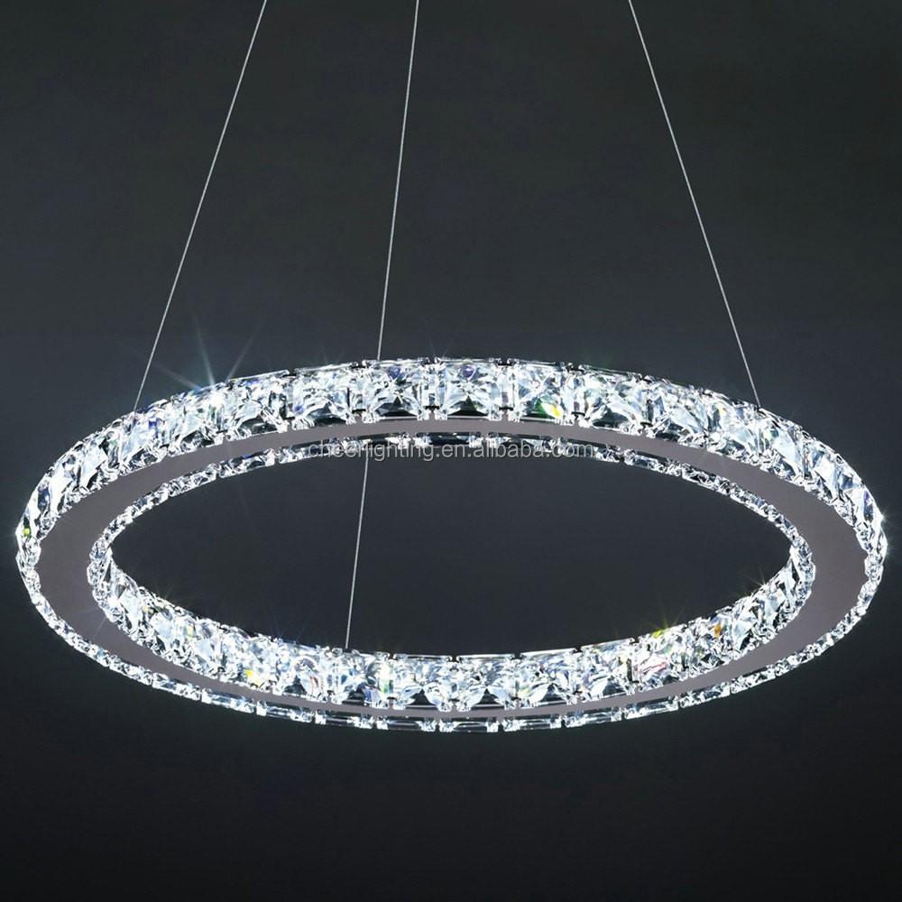 Modern crystal circle chandelier view circle crystal pendant lamp modern crystal circle chandelier arubaitofo Images