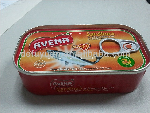 Canned sardine hot selling in oil/tomato/brine best canned fresh fish manufacturer