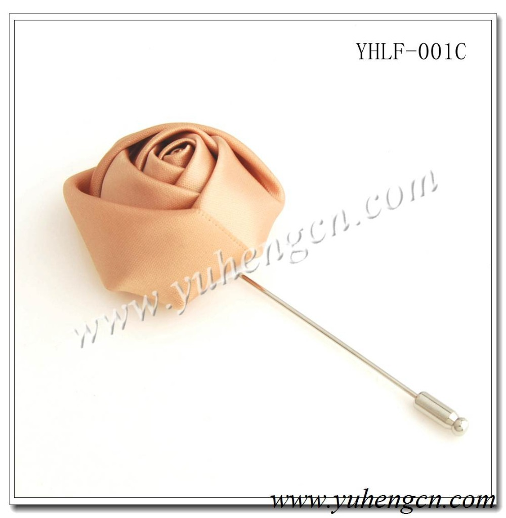 YHLF-001C Elegant Light Tan Rose Flower Pins,Lapel Flowers,Brooches