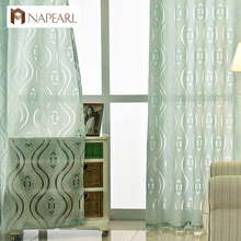 NAPEARL modern jacquard ready made window panel home curtains