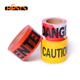 red pe nonadhesive custom printed logo warning barrier tape
