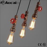 European style industiral vintage iron bar decor pendant light