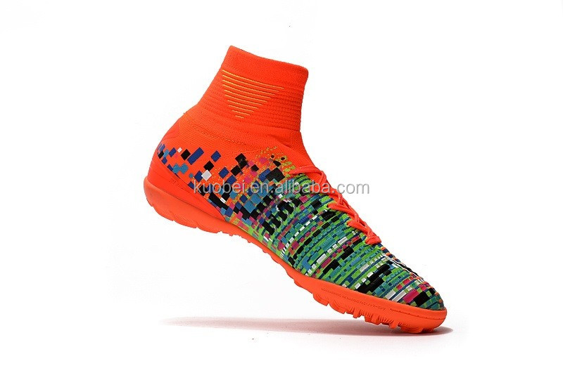 Men Sports High ankle indoor rainbow Football boots shoe CR Soccer Shoes 7  color 35e1d3a5c807