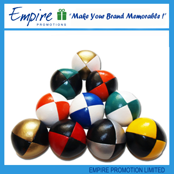 Customized Logo Printed promotional hacky sack/ juggling ball