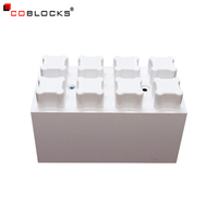 Wholesale large size plastic abs building blocks bricks plastic wall blocks for wall/partition construction