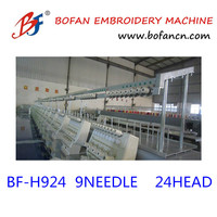 HIgh Speed 24 heads 1200 rpm Embroidery Machine made in zhuji