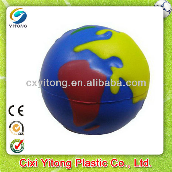 Custom color ful Globe/Earth Stress Ball