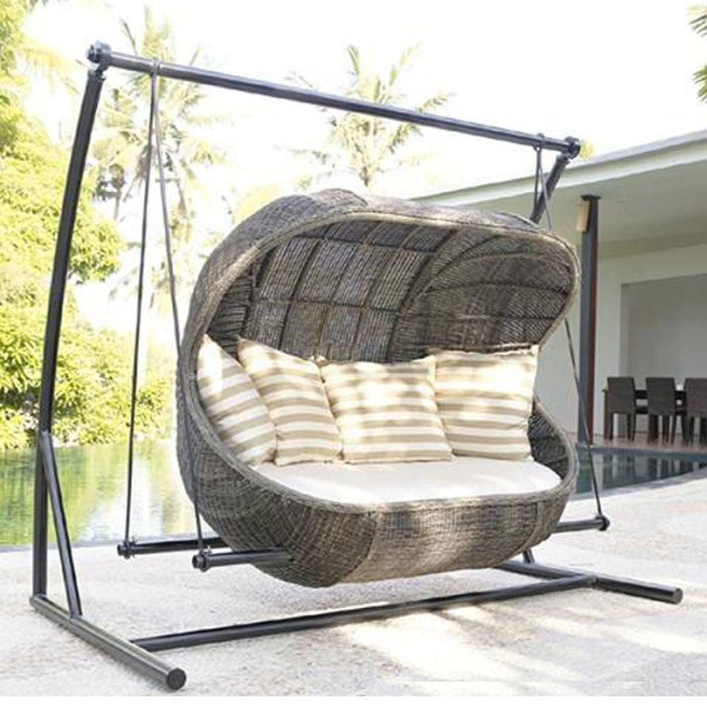 Rattan synthetic Wicker Swing Chair, View Rattan Swing ...