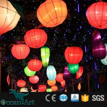 Oabc 8209 Solar Fairy String Lights 10 Mini Colorful Fabric Lanterns For Outdoor Decor