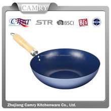 good quality chinese wok with wooden handle or with bakelite handle