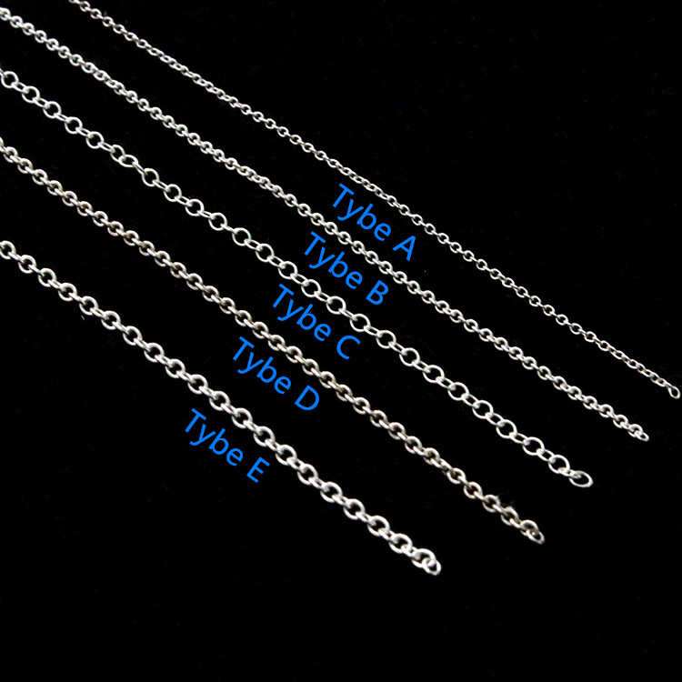 Wholesale 925 sterling silver accessory bulk semi-finished chain in ROLO pattern for jewelry making
