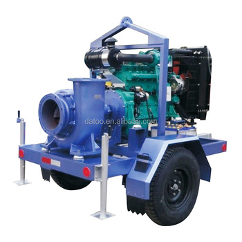 high quality 6 inch farm movable diesel water pump