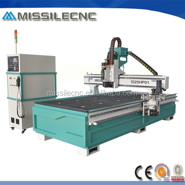 china high precision vacuum table six zones 1325 wood cnc router
