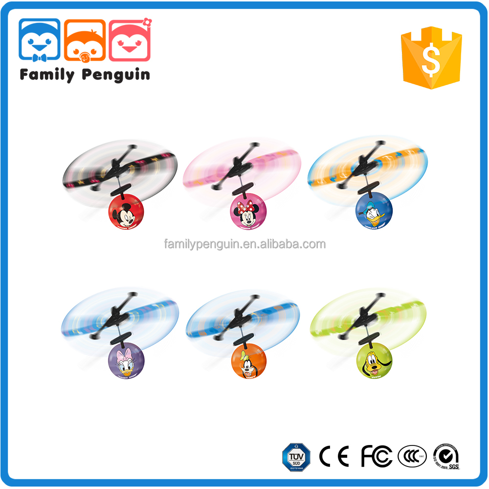 remote control ufo flying saucer hand sensor mini airplane toy