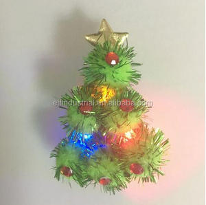 Wholesale promotional customized design flashing led light blinking lapel pin light up Christmas tree brooch pin