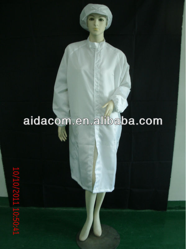 Washing 180 times,ESD labcoat, Stripe Antistatic labcoat