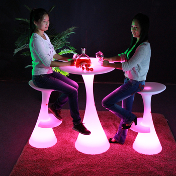 new clear plastic led lighting wineries event cocktail table with rotational moulding technology