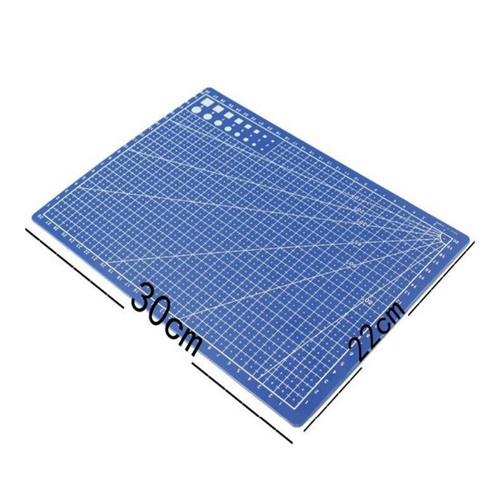 A4 Grid Lines Cutting Mat Leather Paper Cutting Board 30*22cm ...