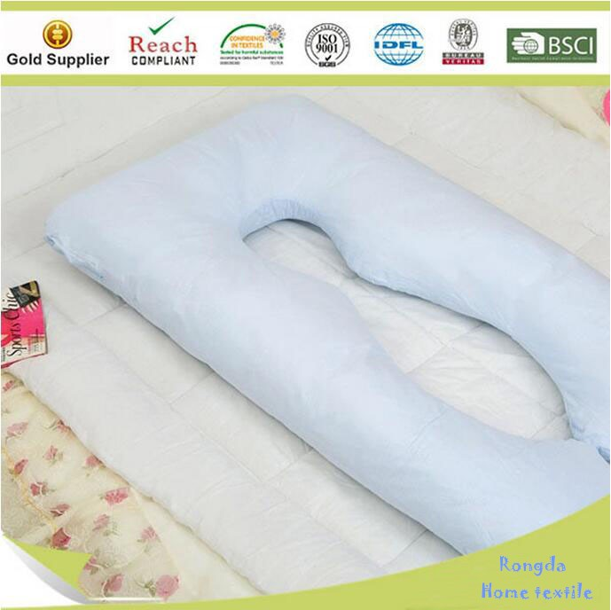 White Wholesale softer polyester Pregnant pillow full body maternity pillow u shaped pregnancy pillow