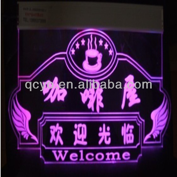 factory directly sale acrylic led edge lit sign