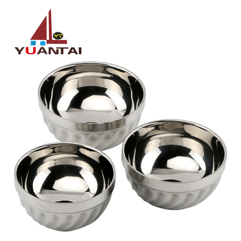 Wholesale double wall stainless steel bowl soup bowl stainless steel bowl for kids