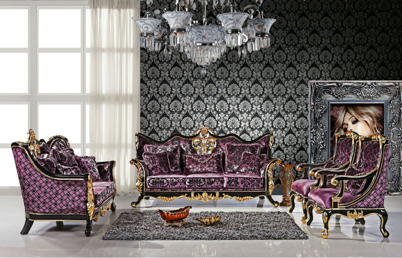 2014 Royal Purple Sofa Set Is Used Solid Wood,Fabric And High Density  Sponge For The Living Room Furniture   Buy Purple Sofas For Sale,Modern  Luxury Fabric ...