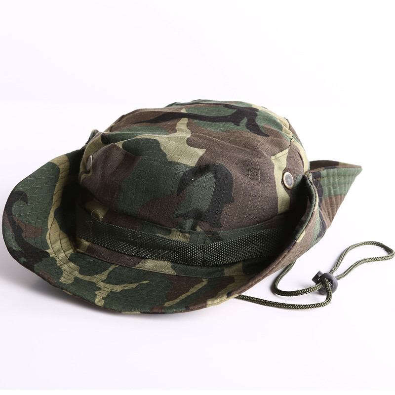 413b8289 Buy Military Camouflage Bucket Hats Camo Fisherman Hats With Wide Brim  Fishing Bucket Hats Camping Hunting Hats in Cheap Price on Alibaba.com