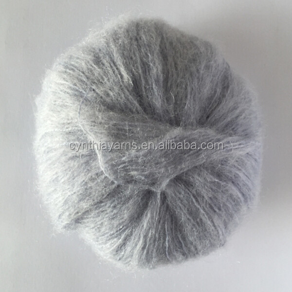 Super Soft Warm Mohair Blended Knitting Yarn For Hat