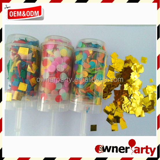 Eco Friendly Wedding Party Decoration Confetti Popper Hot Push Pop Product On
