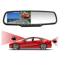 High Quality 4.5'' Monitor Car DVR Rearview Mirror Camera Video Recorder Dual Lens