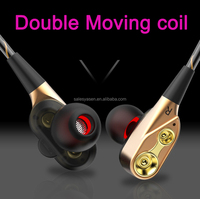 2018 new hybrid earphone double moving coil high quality HIFi wired earphone with 4 speakers