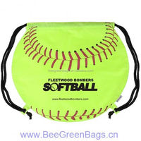 2015 Hot 190T Polyester foldable cheap drawstring bags sport bag