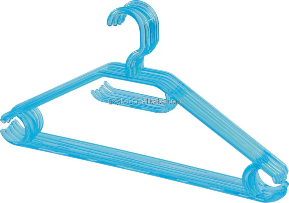 Light Weight Plastic Hangers Transparent Hangers