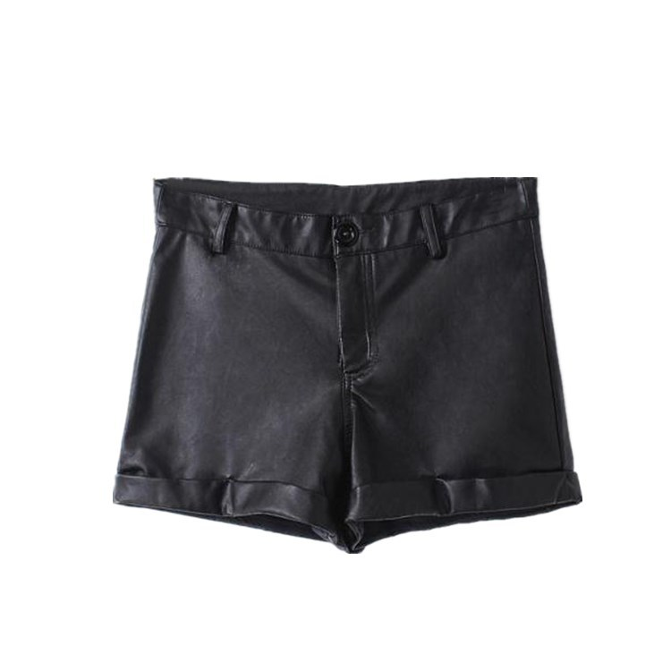838d78f1b06e Get Quotations · more stylish Europe station 2015 winter new women PU  leather waist shorts