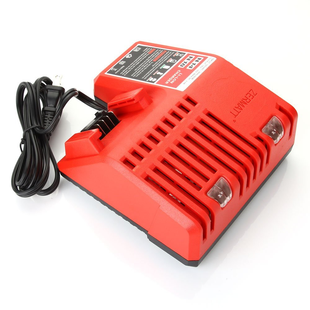Masione 18v MAX Replacement Battery Charger for Milwaukee M18 18Volt Lithium Battery 48-11-1850 48-11-1830 48-59-1812 48-59-1801 Charger Kit