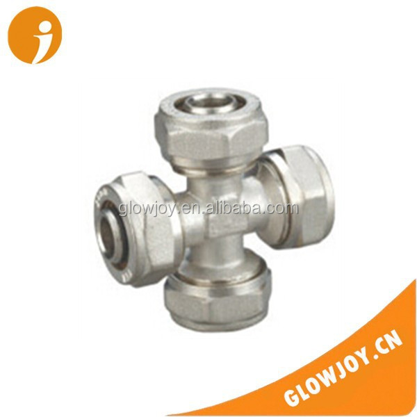 (FT1112) Glowjoy nickel plated cross brass adjustable toilet pipe fittings ,pvc plumbing pipe fittings