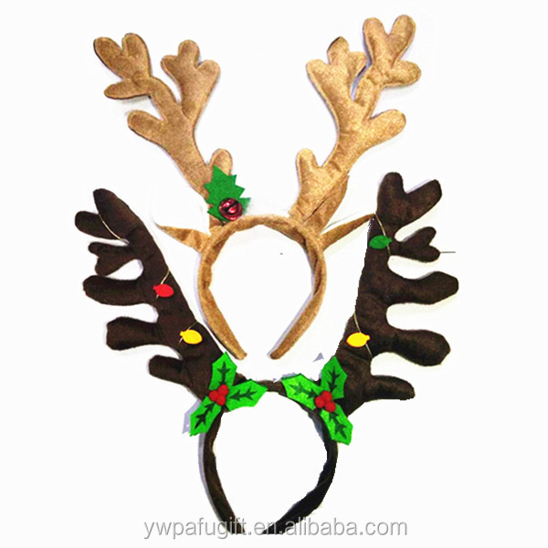 Christmas Holiday Party Decoration Christmas Deer Reindeer Antlers <strong>Headband</strong>