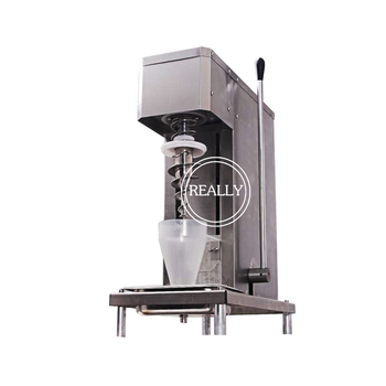 Stainless steel industrial swirl real fruit blender ice cream mixer machine