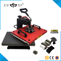Competitive price CUYI 6 in 1 t-shirt printing / sublimstion machine heat press machine CE