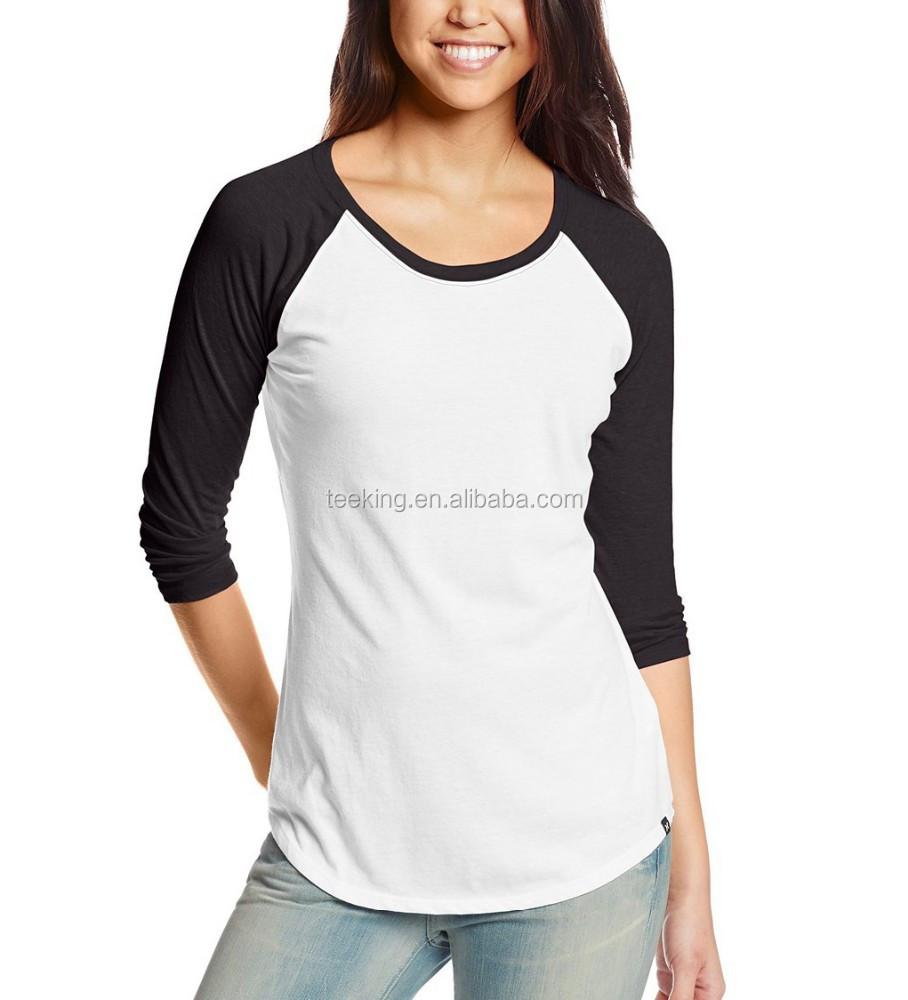 pretty nice 596a2 8d4e3 Customized Plain Raglan Baseball T Shirt Women - Buy Womens Raglan T Shirt,Baseball  T Shirt Women,Plain Raglan Baseball T Shirt Product on Alibaba.com