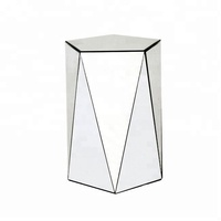 Amazon Best Seller Mirrored Furniture Wholesale Side Table Stand Tall Mirrored Pedestal