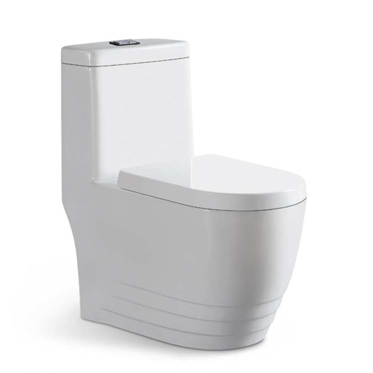 Cina WC Umum Toilet Porselen Washdown One Piece Toilet Bagian