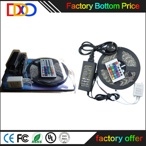 5m rgb 5050 led strip light smd 44 key remote with factory bottom price