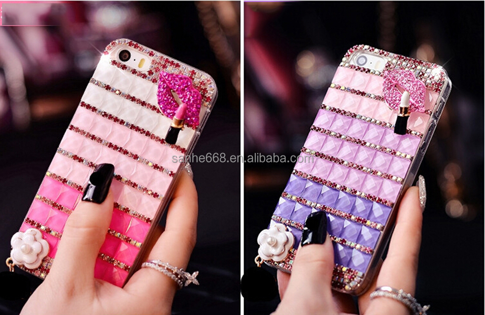 100% hot bling bling diamond case for iphone 6 case custom factory price TPU diamond design phone case for iPhone 6 plus
