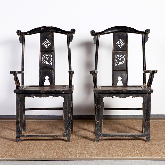 Antique Classic Furniture Chinese Wooden Carved Dining Chair