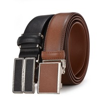 Leather belts with Japanese clip automatic buckle