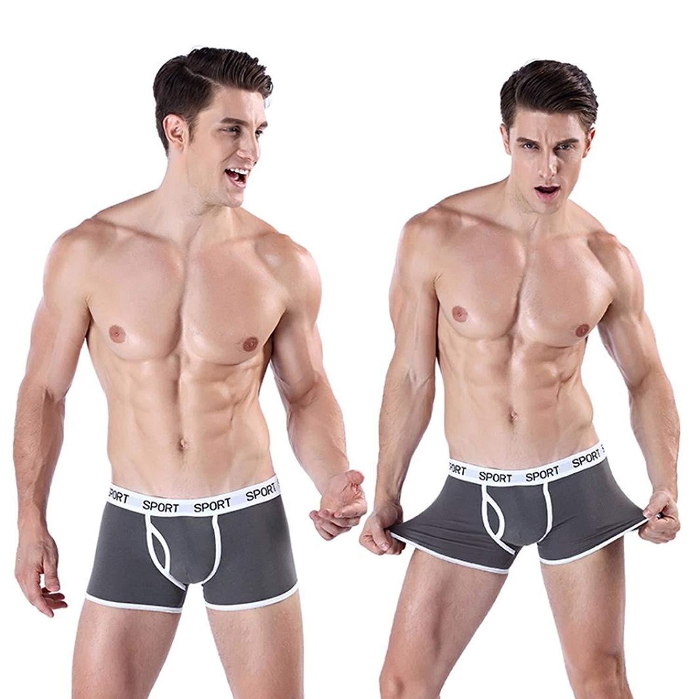 bde1de5e59d9 Get Quotations · VIASA_Brief Men's Soft Boxer Briefs Underpants Knickers Shorts  Sexy Underwear Men's Sport Boxer Underwear Sport Boxer