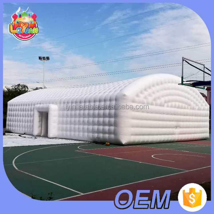 Custom airtight inflatable party marquee / inflatable wedding tent / huge air white event house for exhibition